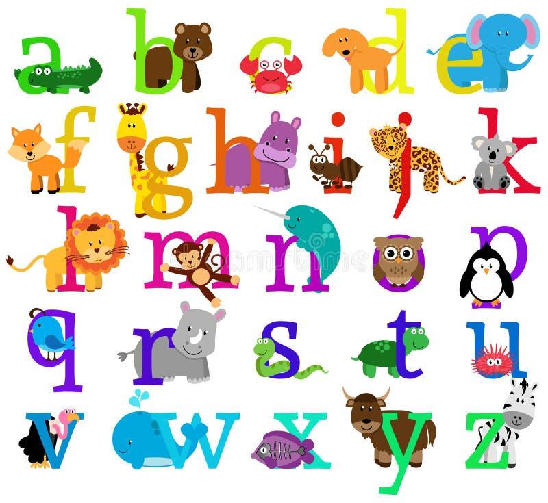 Vector Animal Themed Alphabet vector illustration