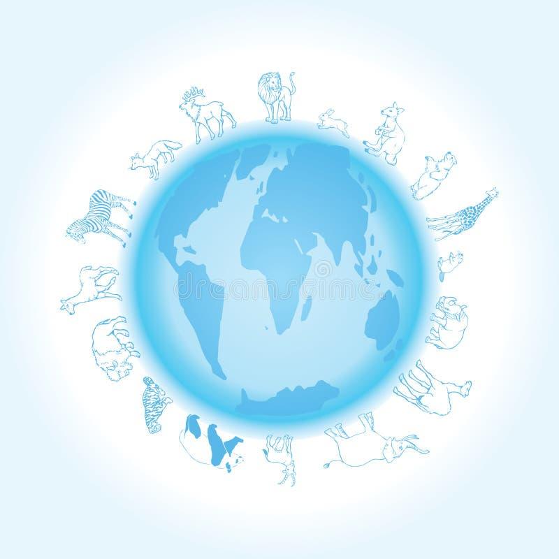 vector Animals of the world stock illustration