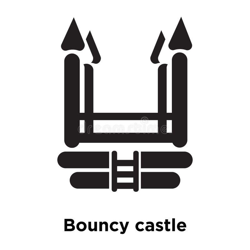Vector animoso del icono del castillo aislado en el fondo blanco, estafa del logotipo libre illustration