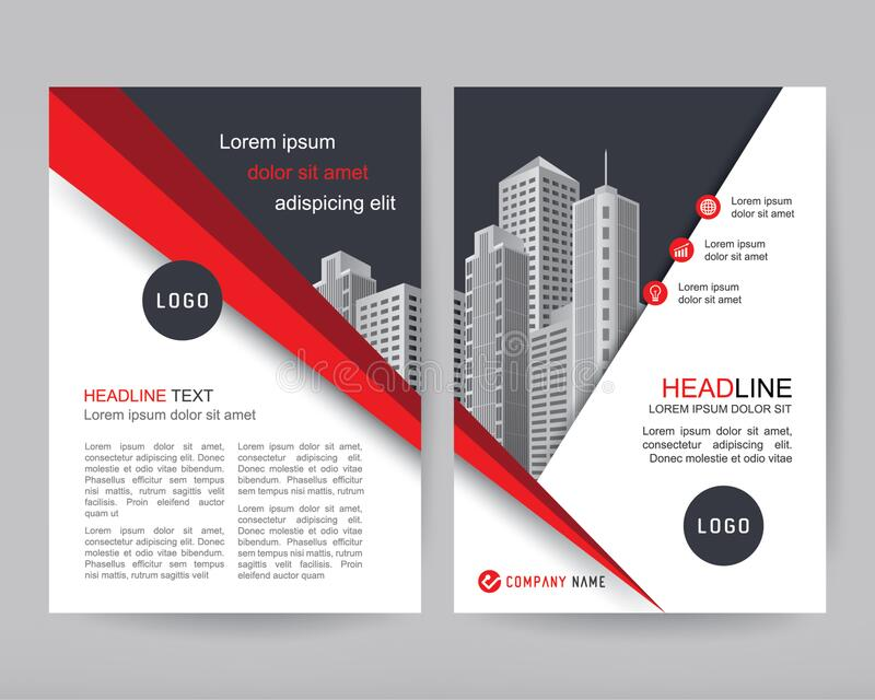 Corporate Business Cover and Flyer Design Template. Annual report Business brochure, flyers design template, company profile, magazine, poster, book & booklet stock illustration