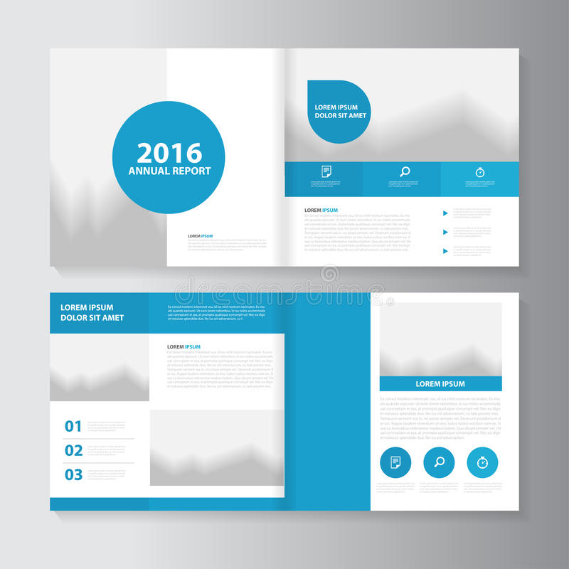 Vector annual report Leaflet Brochure Flyer template design, book cover layout design. Vector Leaflet Brochure Flyer template design, annual report book cover royalty free illustration
