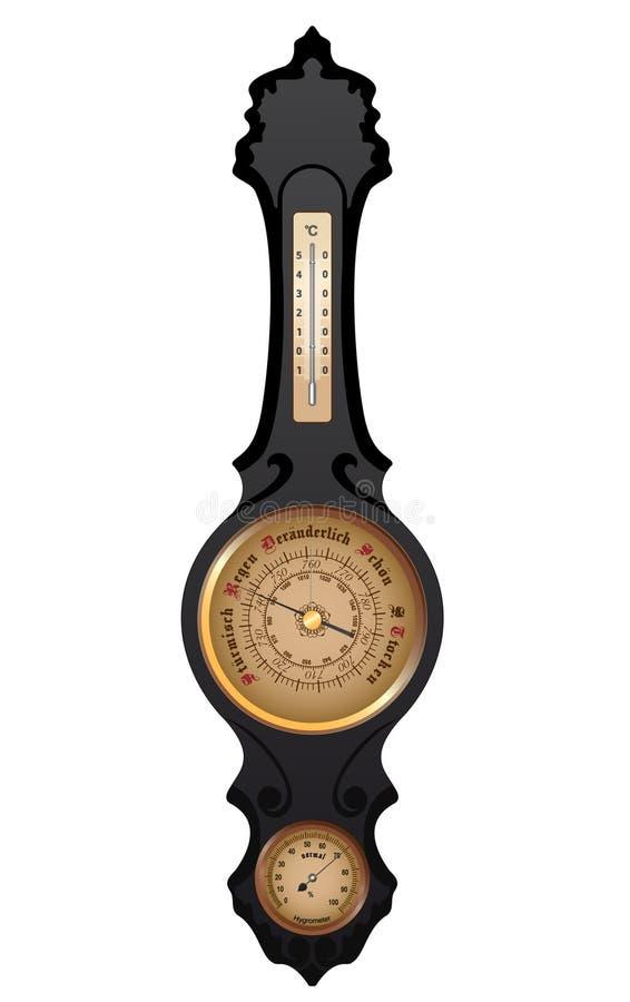 Vector Antieke Duitse Barometer royalty-vrije illustratie