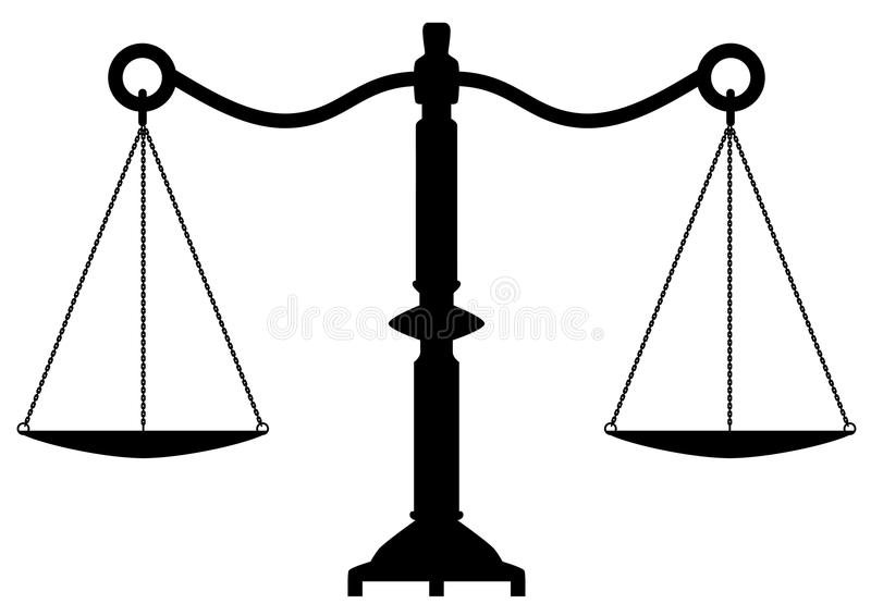 vector antique scales of justice stock illustration