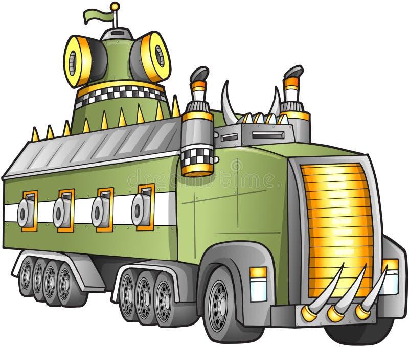 Vector apocalíptico del camión stock de ilustración