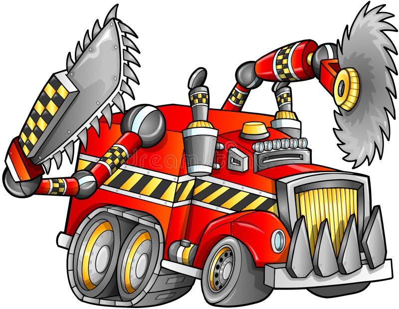 Vector apocalíptico del vehículo del camión ilustración del vector