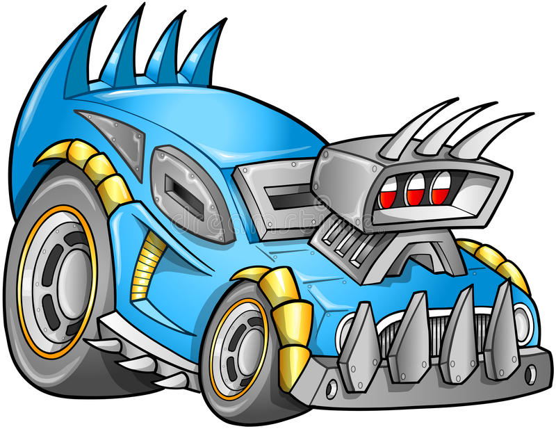 Vector apocalíptico del vehículo del coche stock de ilustración