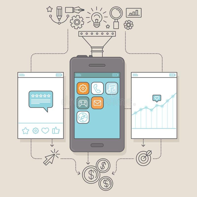Vector app promotion and marketing illustration vector illustration