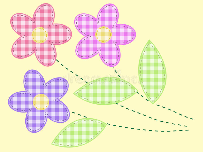 Vector applique fabric vector illustration