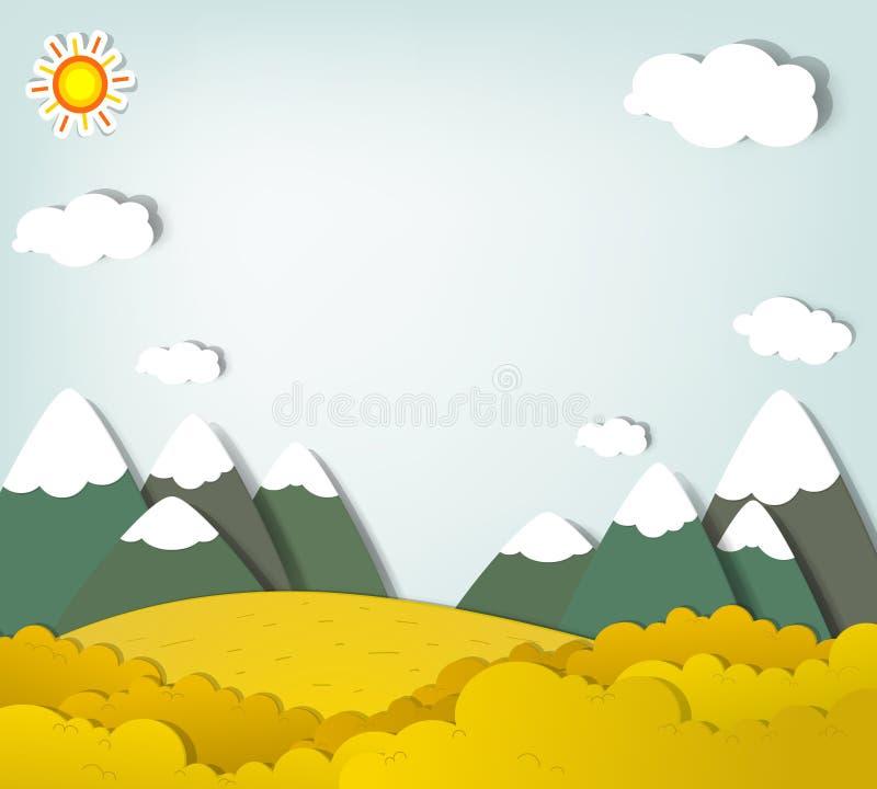 Vector applique. Het landschap van de berg