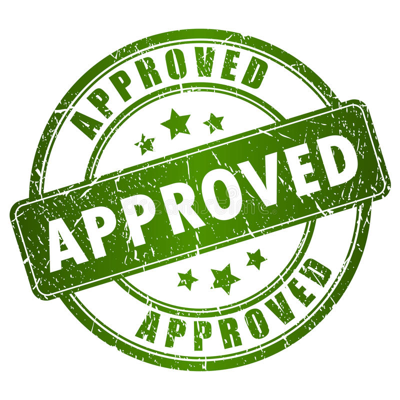 Free Vector Approved Stamp Royalty Free Stock Images - 29840749