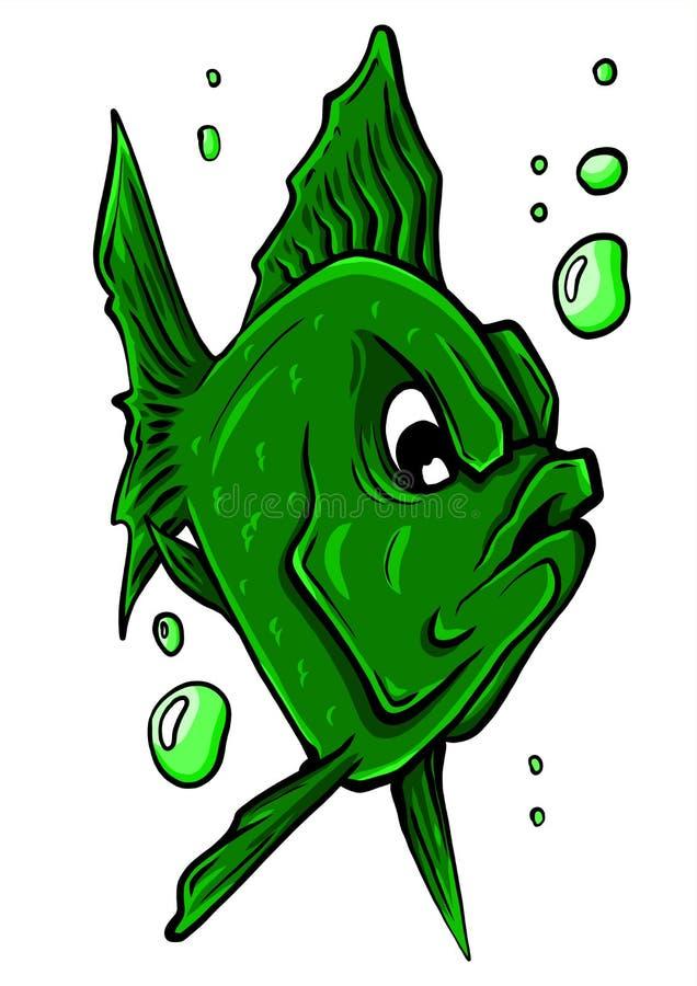 Vector aquarium fish silhouette illustration. Colorful cartoon flat aquarium fish icon vector illustration