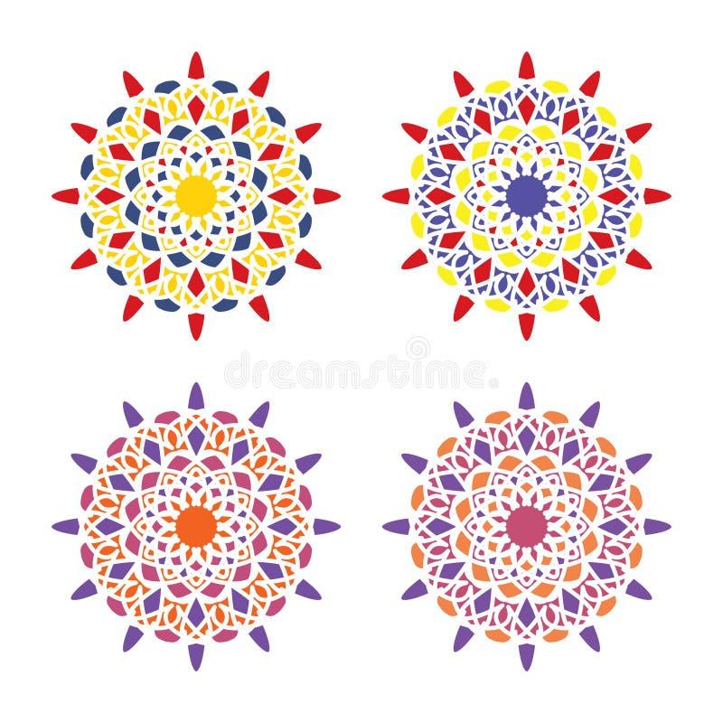 Vector Arabic ornament. Geometric logo template set. Vector Arabic ornamental symbols vector illustration