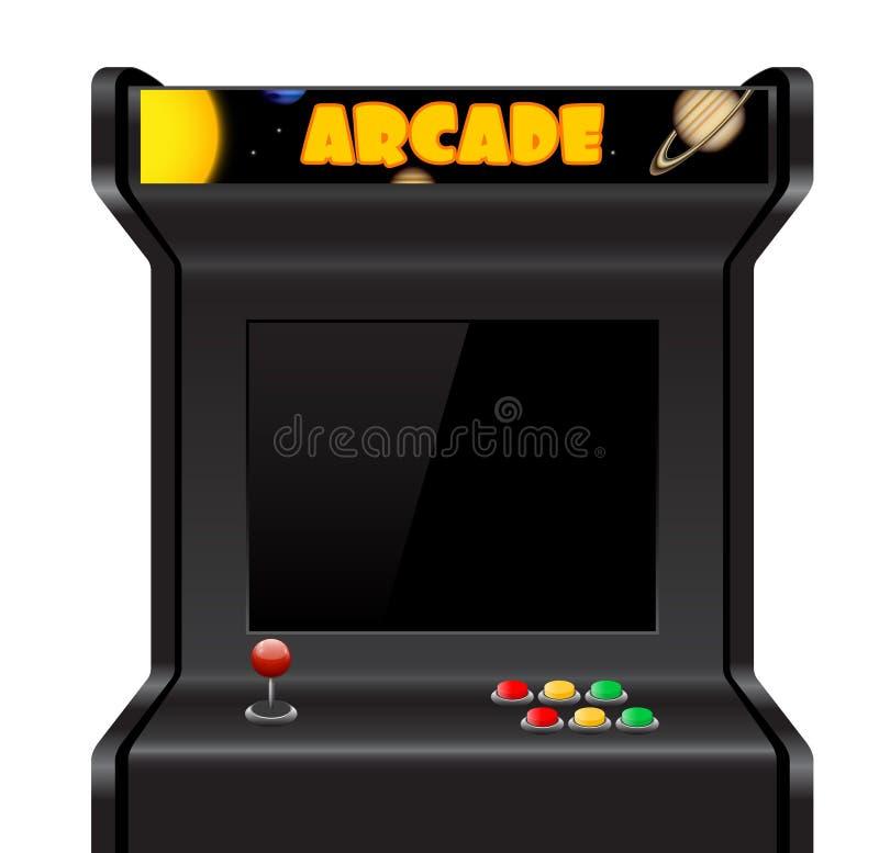 Vector arcade machine stock illustration