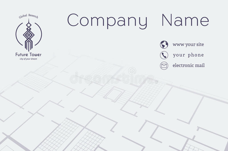 Download Vector Architectural Business Card Stock Vector   Illustration Of  Idea, Geometric: 69820266