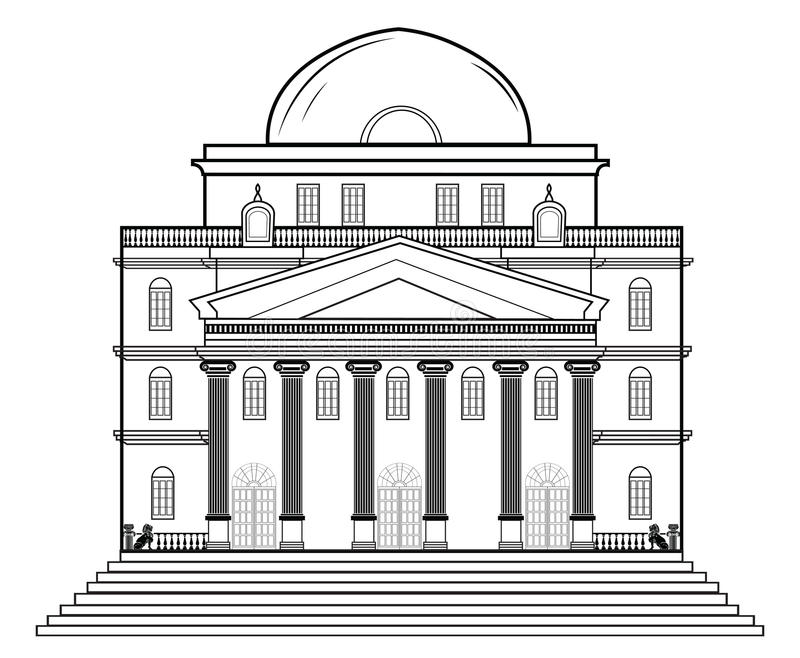 Vector Architectural Facade Stock Vector - Illustration of elevation ...