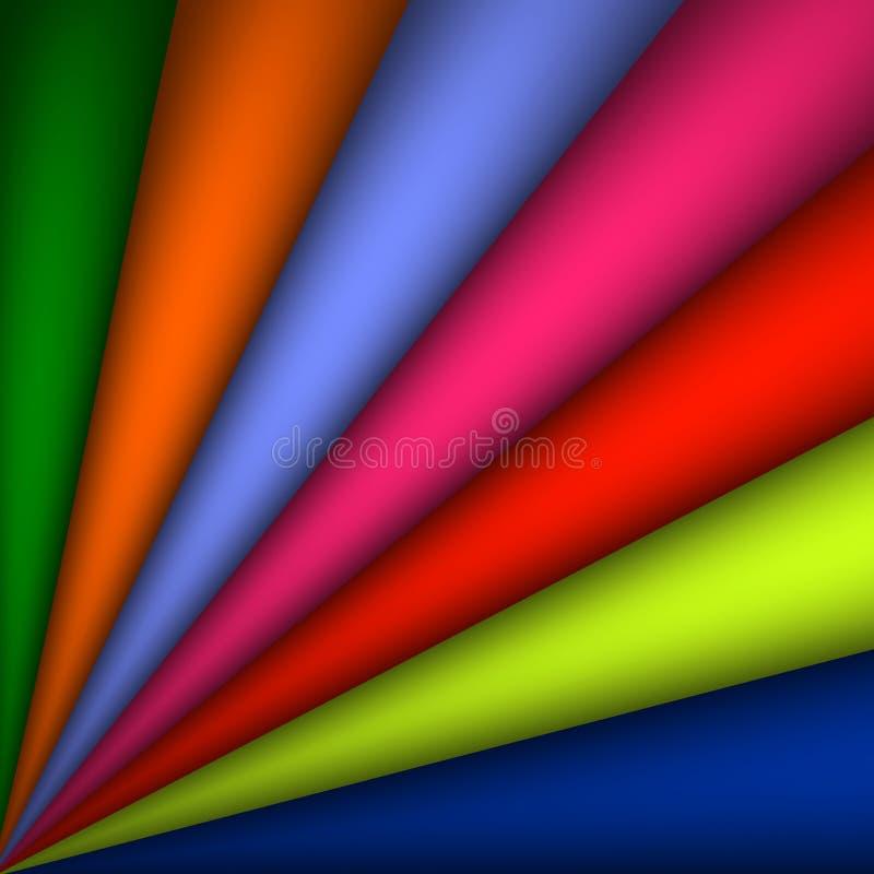 Vector arco-íris abstrato a ilustração curvada do fundo - arcos de espalhamento do fundo colorido abstrato do arco-íris ilustração do vetor