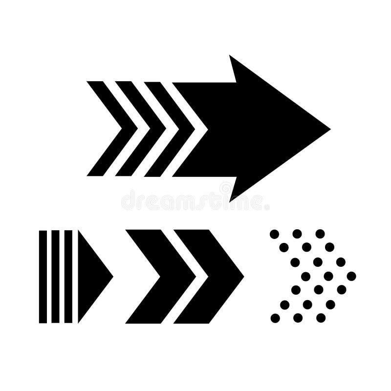 Vector arrow Set of black arrow icons vector royalty free illustration