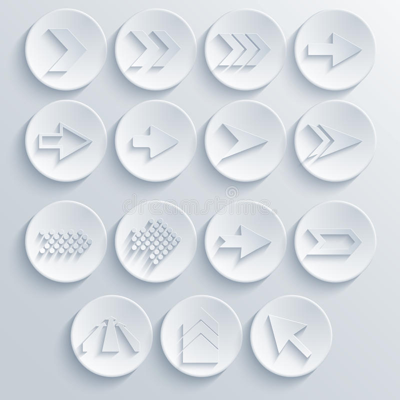 Free Vector Arrow Circle Icon Set. Eps 10 Stock Images - 36499904