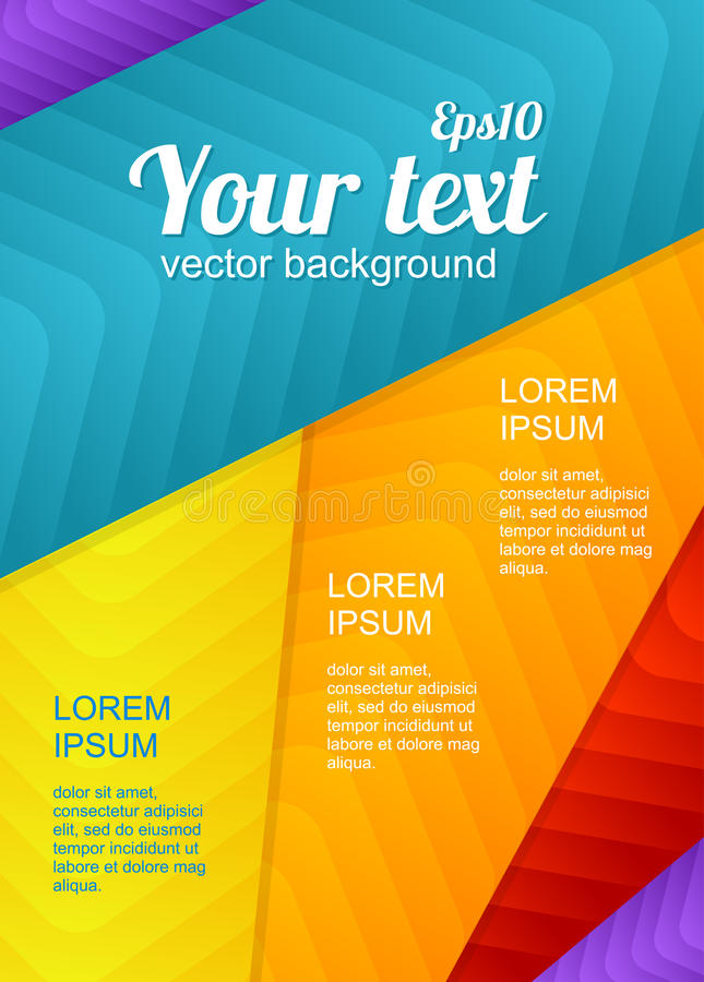 Vector arrow poster template royalty free illustration