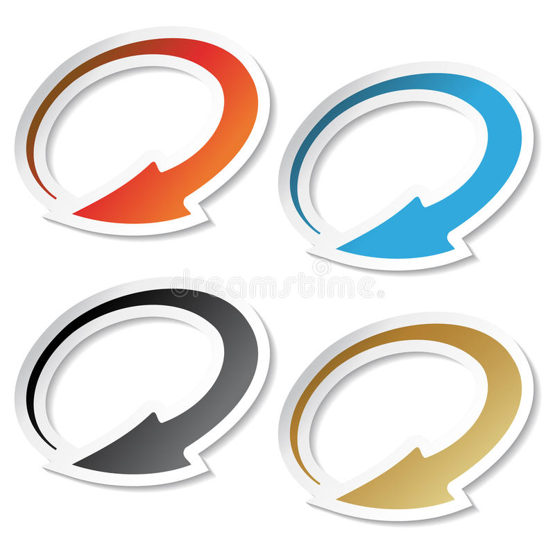Free Vector Arrow Stickers Stock Images - 15790234