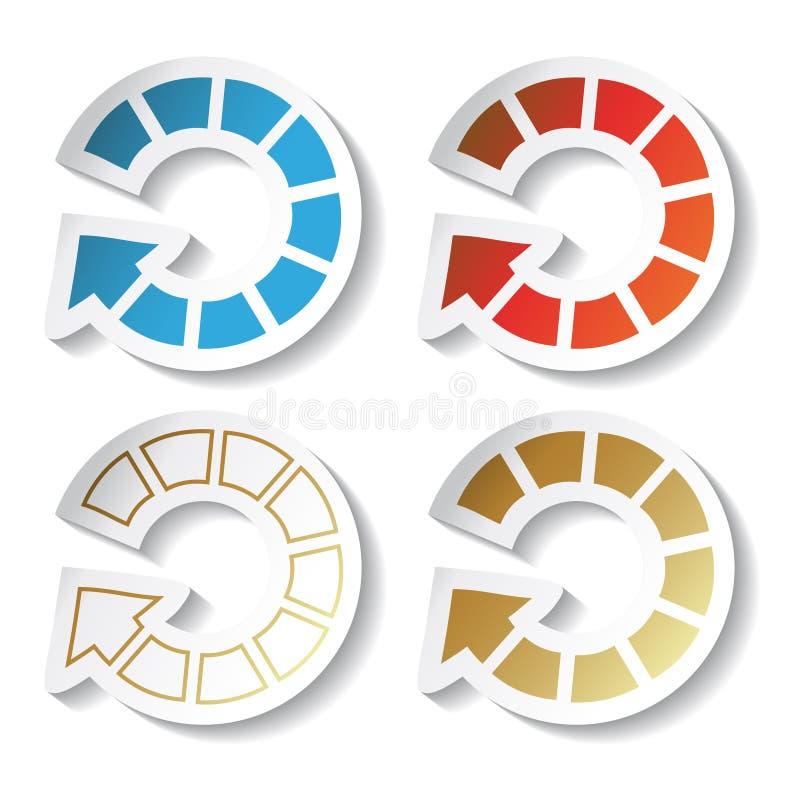 Vector arrow stickers royalty free stock photos