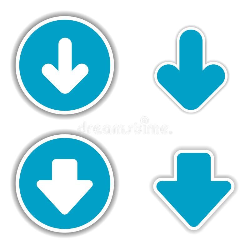 Download Vector arrow stickers stock vector. Image of border, download - 18606067