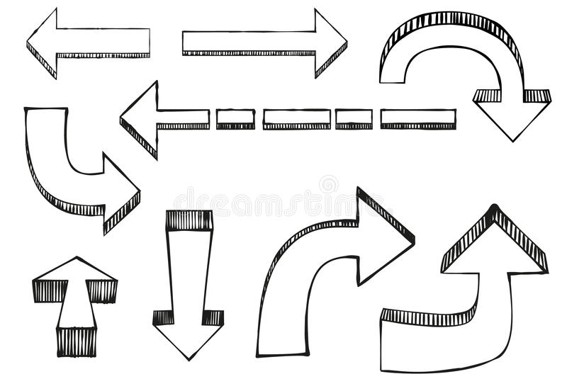 Vector arrows stock illustration