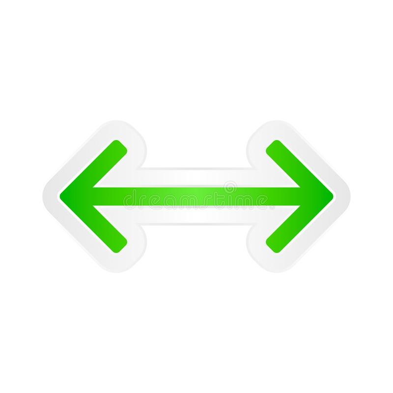 Vector arrows two direction reload icon 11 stock illustration