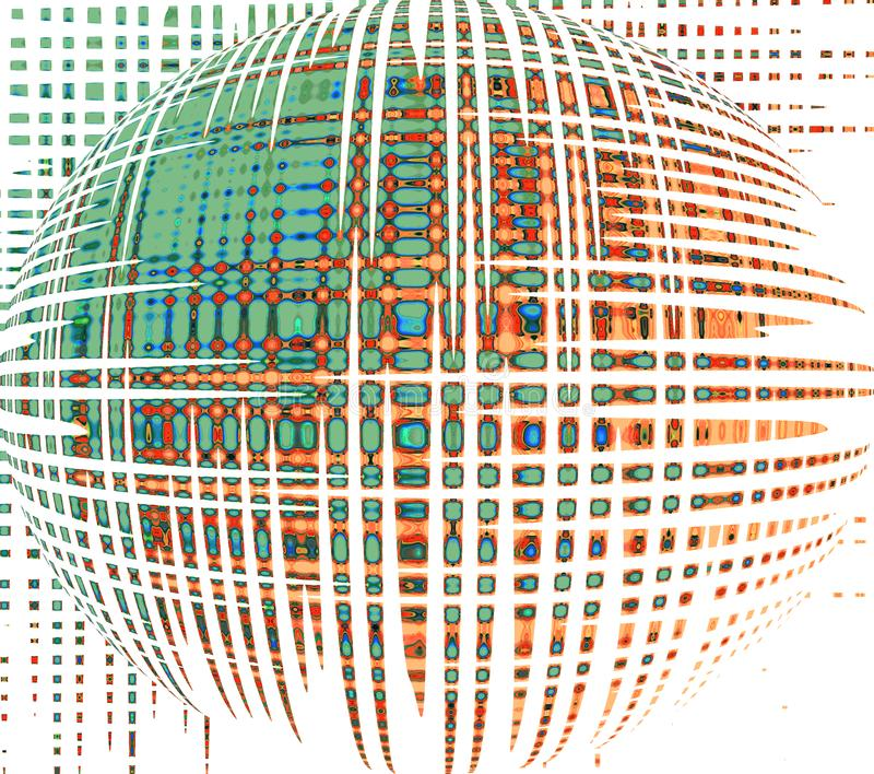 Magic sphere. Futuristic background. stock illustration