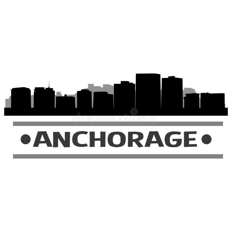 Download Vector Art Design Del Icono De La Ciudad Del Horizonte De Anchorage Ilustración del Vector - Ilustración de marco, país: 100533344