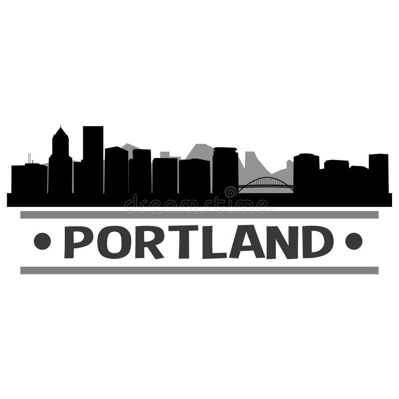 Download Vector Art Design Del Icono De La Ciudad Del Horizonte De Portland Ilustración del Vector - Ilustración de logotipo, marco: 100533508