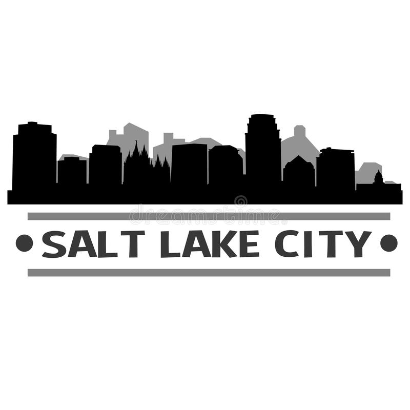 Download Vector Art Design Del Icono De La Ciudad Del Horizonte De Salt Lake City Ilustración del Vector - Ilustración de emblematic, mínimo: 100534126