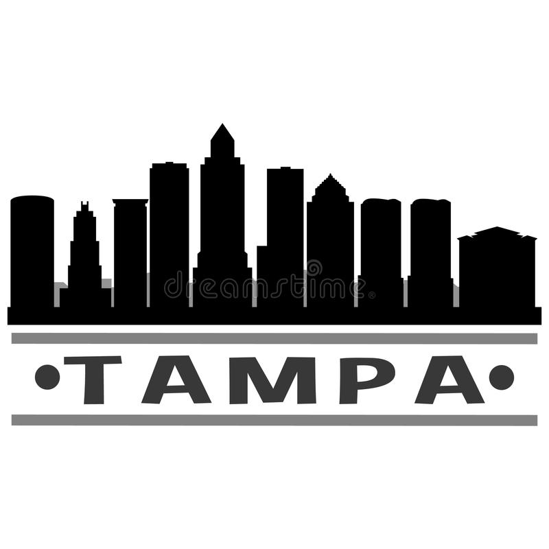 Vector Art Design Skyline del icono de Tampa ilustración del vector