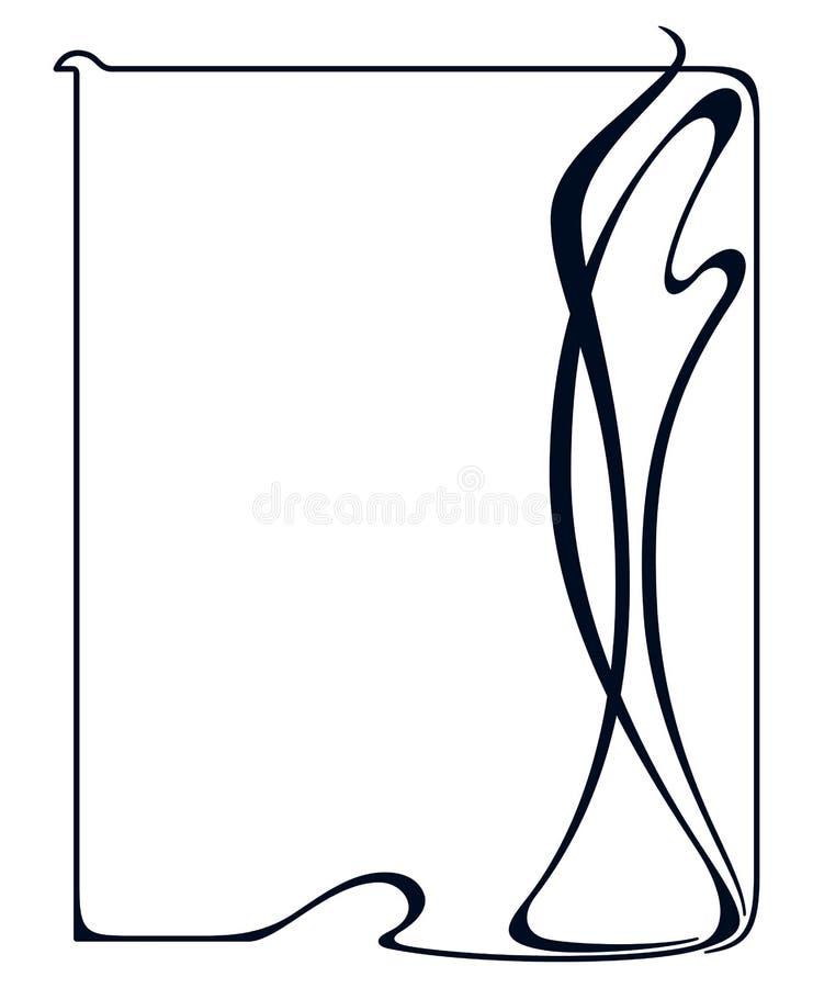Vector art nouveau frame. vector illustration