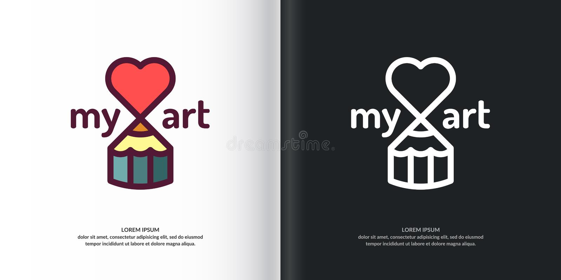 Vector Art Studio. stock illustration