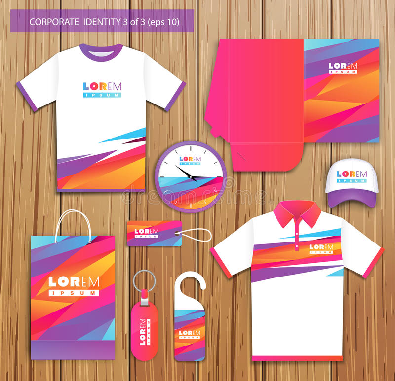 Vector artistic corporate identity template with vector illustration