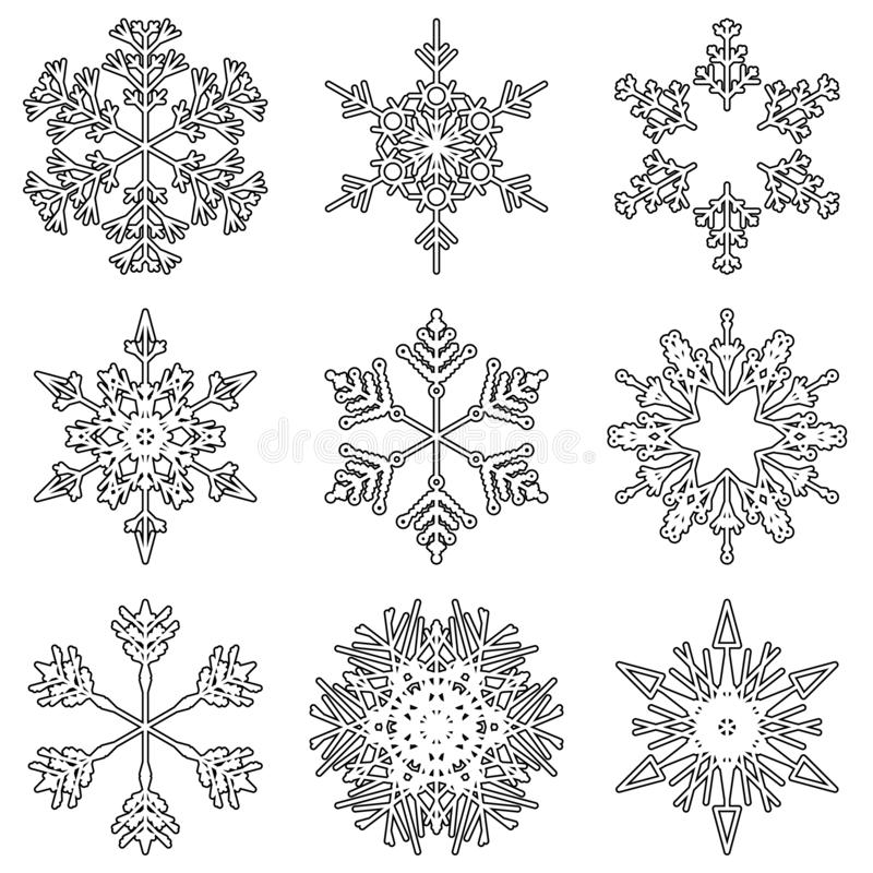 Free Vector Artistic Icy Abstract Crystal Snow Flakes Stock Images - 134272304
