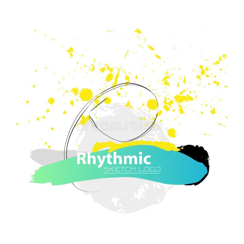 Vector artistic Rhythmic Gymnastic sketch ribbon. stock image