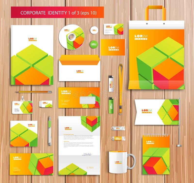 Vector artistiek collectief identiteitsmalplaatje met stock illustratie