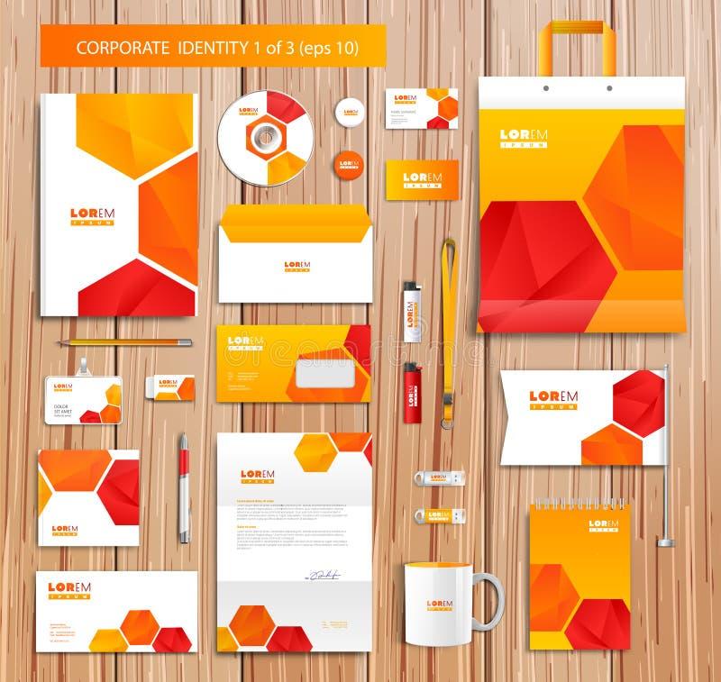 Vector artistiek collectief identiteitsmalplaatje met vector illustratie