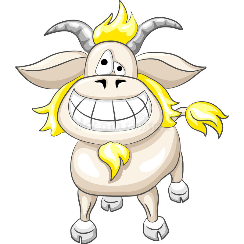 Download Vector Сartoon Funny Goat Smile Stock Vector - Illustration of tail, goat: 22933243