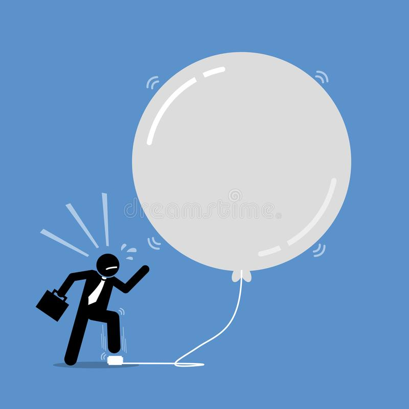 Money Investment Bubble. stock illustration