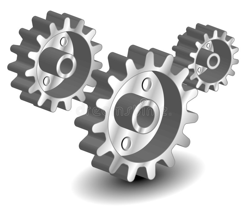 Vector as engrenagens ilustração do vetor