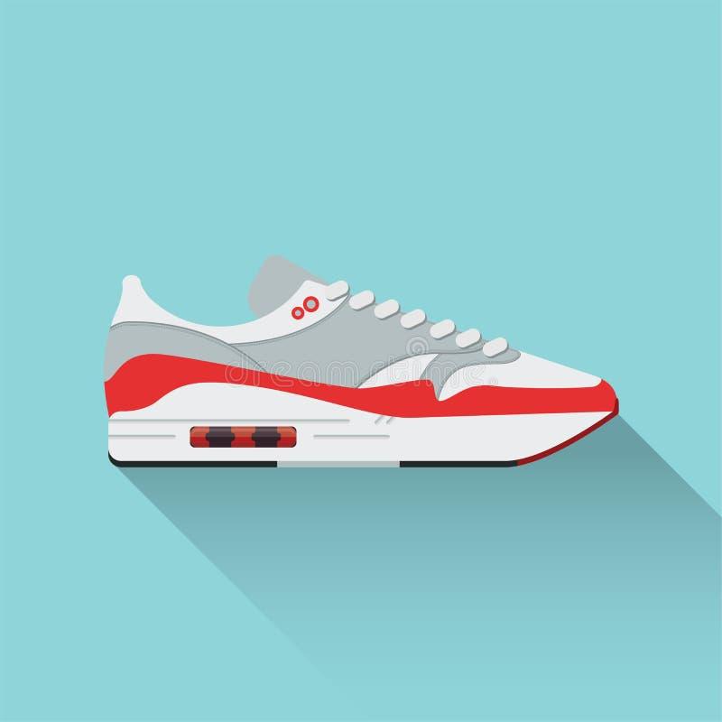 Vector as sapatas tiradas do esporte, sapatilhas para o verão Ilustração conservada em estoque do vetor Desgaste do esporte para  ilustração royalty free