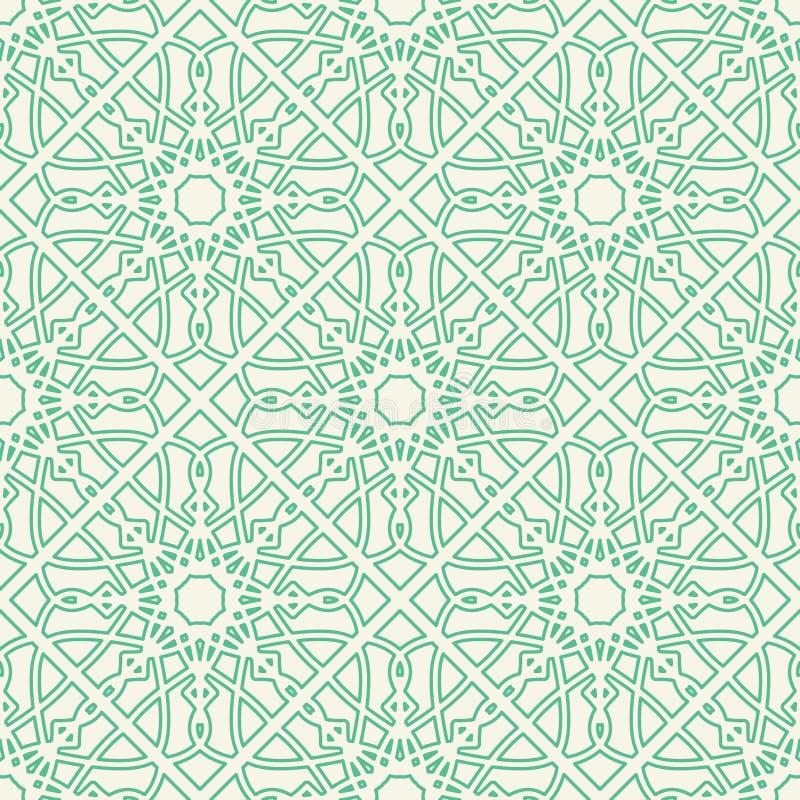 Vector Asian Linear Geometric Pattern stock image