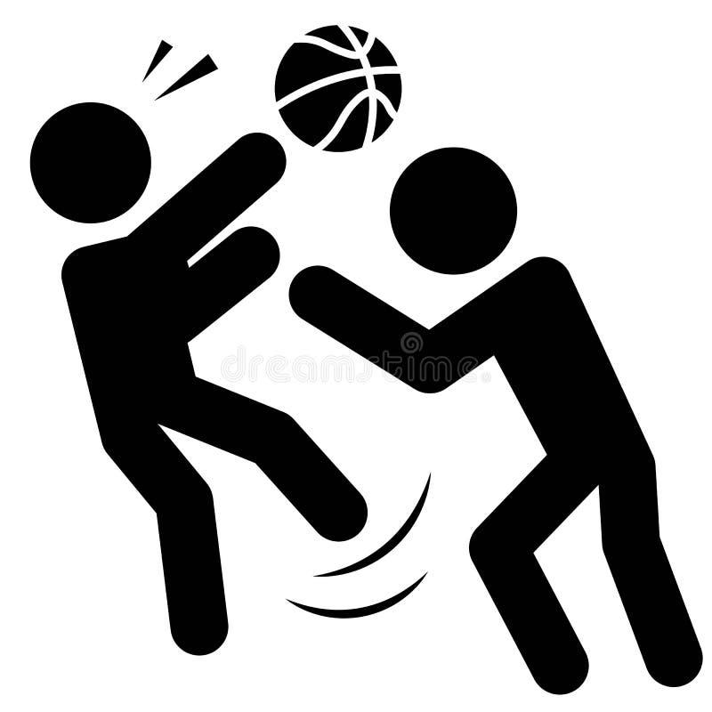 Vector asqueroso del icono del baloncesto ilustración del vector