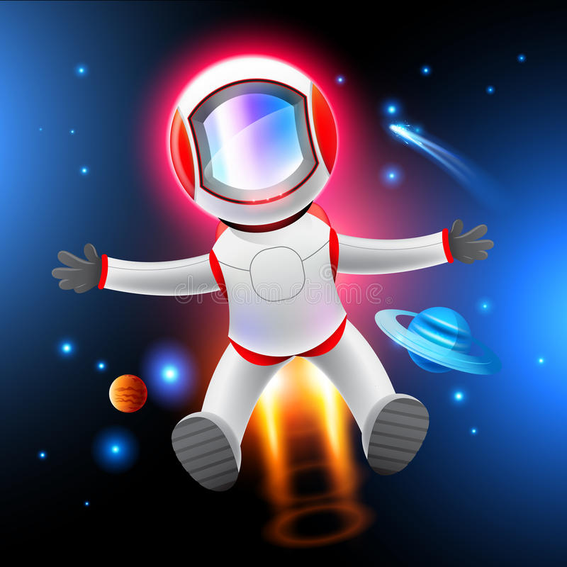 Vector Astronaut Royalty Free Stock Images