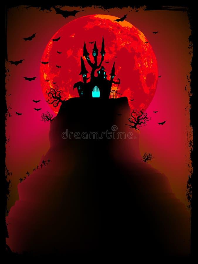 Vector asustadizo de Halloween con la abadía mágica. EPS 10 ilustración del vector