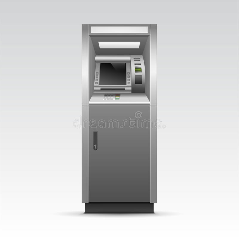 Vector ATM Bank Cash Machine Isolated royalty free illustration
