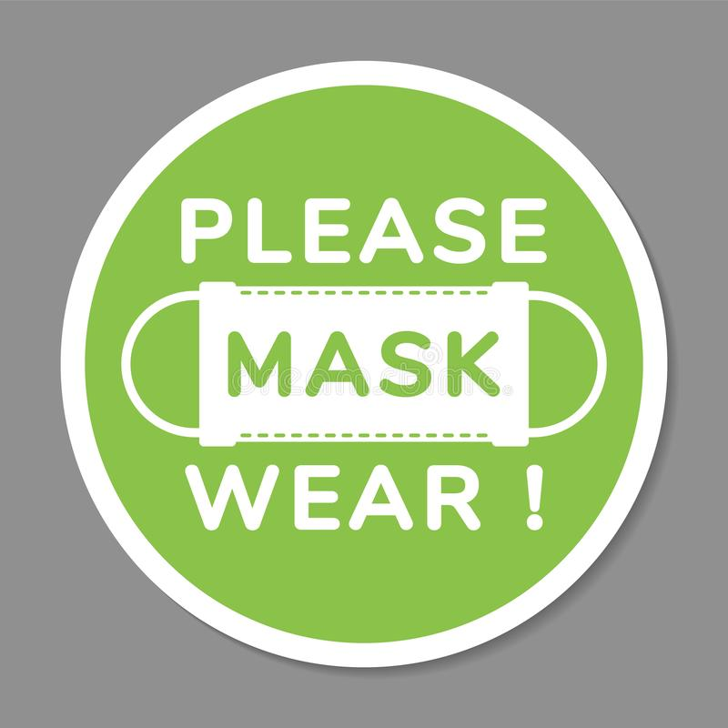 Free Vector Attention Sign, Please Wear Face Mask, In Flat Style Royalty Free Stock Photography - 126535277